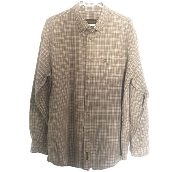 NWT Mens TIMBERLAND Slim Fit Button Down Casual Shirt size L